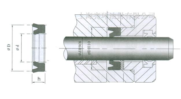 d-2油封剖面图图片